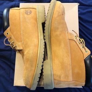Men's camel/tan timberland boots size 11.5
